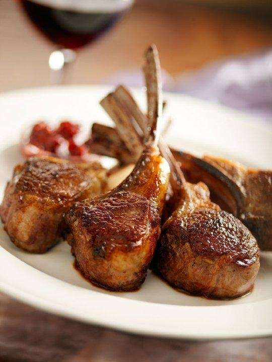 Double-cut lamb rib chops at The Capital Grille