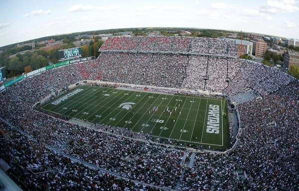 General view of Spartan Stadium during a game