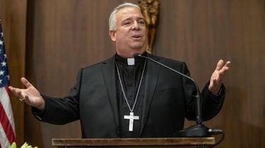 Philadelphia Archbishop-elect Nelson J. Perez addresses those assembled