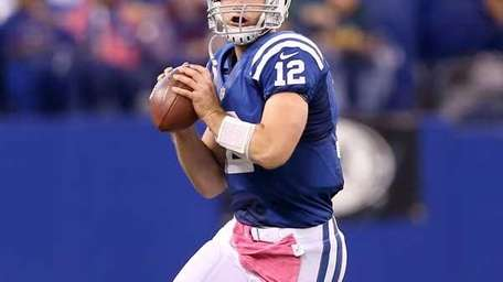Andrew Luck #12 of the Indianapolis Colts