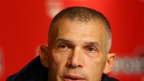 Joe Girardi speaks to the media before Game