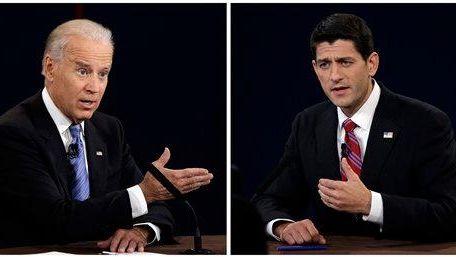 In a combo photo, Vice President Joe Biden,