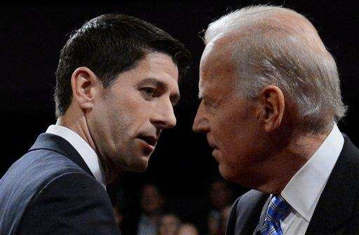 Democratic Vice President Joe Biden and Republican vice-presidential