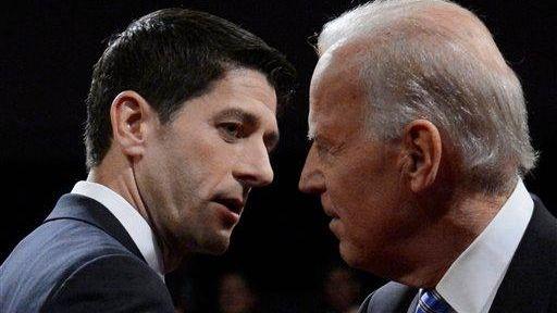 Democratic Vice President Joe Biden and Republican vice-presidential