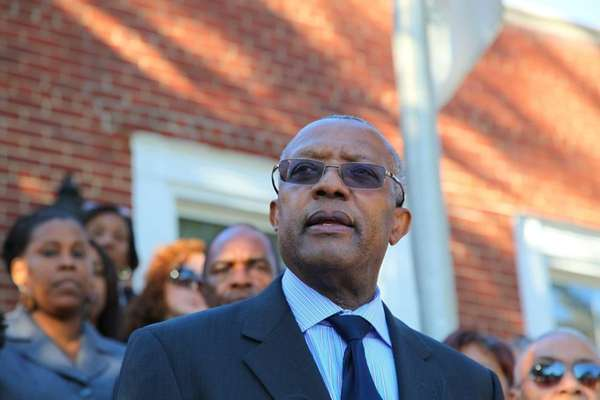 Hempstead Village Mayor Wayne Hall speaks about accusations