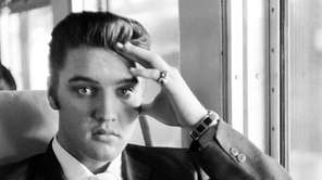 Elvis Presley On a train from New York