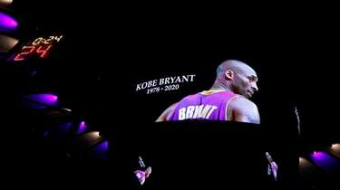 Kobe Bryant is remembered prior to the start