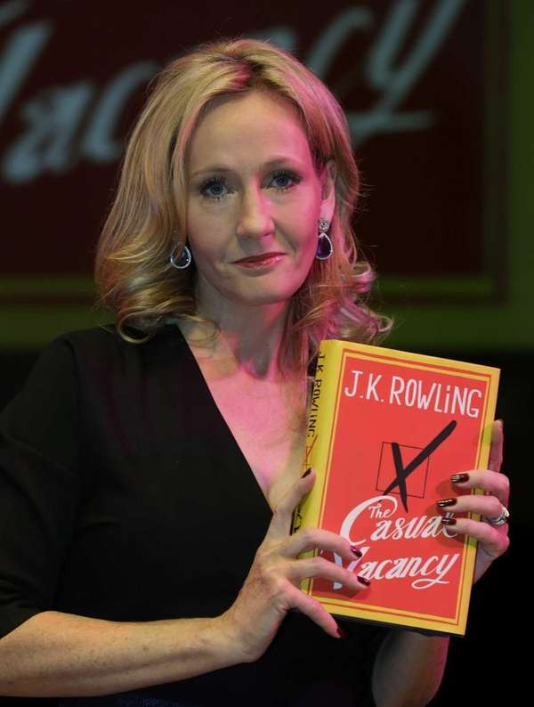 British writer J.K. Rowling with her new book