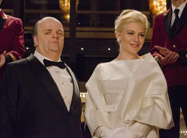 Sienna Miller as Tippi Hedren and Toby Jones