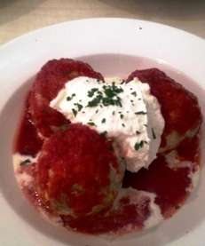 The moist, pillowy meatballs at Luigi's in Mineola