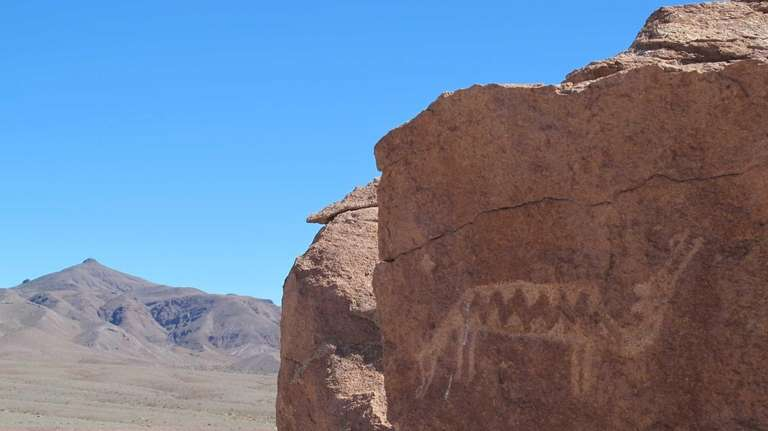 A petroglyph of a two-headed creature in Yerbas