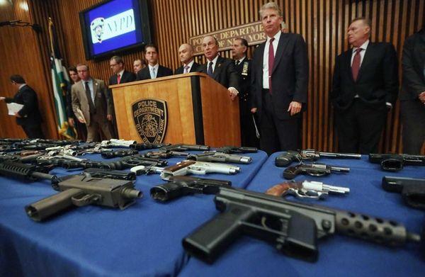 New York City Mayor Michael Bloomberg, left, speaks