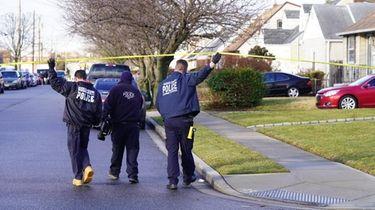 Nassau County Police respond to a report of