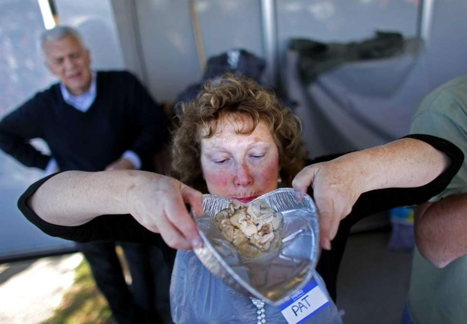 The Oyster Festival featured an oyster-eating contest. (Oct.