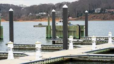 Huntington officials say dock work at the Woodbine