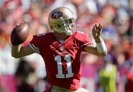 San Francisco 49ers quarterback Alex Smith in a