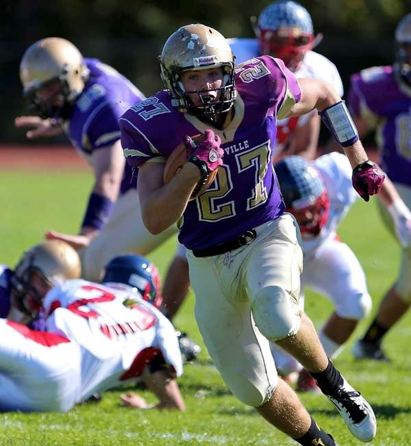 Sayville running back John Haggart breaks free for