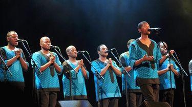adysmith Black Mambazo will bring their distinctive sounds