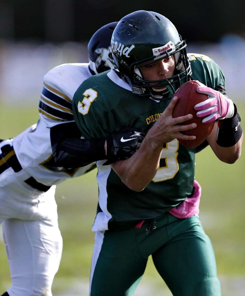 William Floyd quarterback A.J. Otranto calls his own