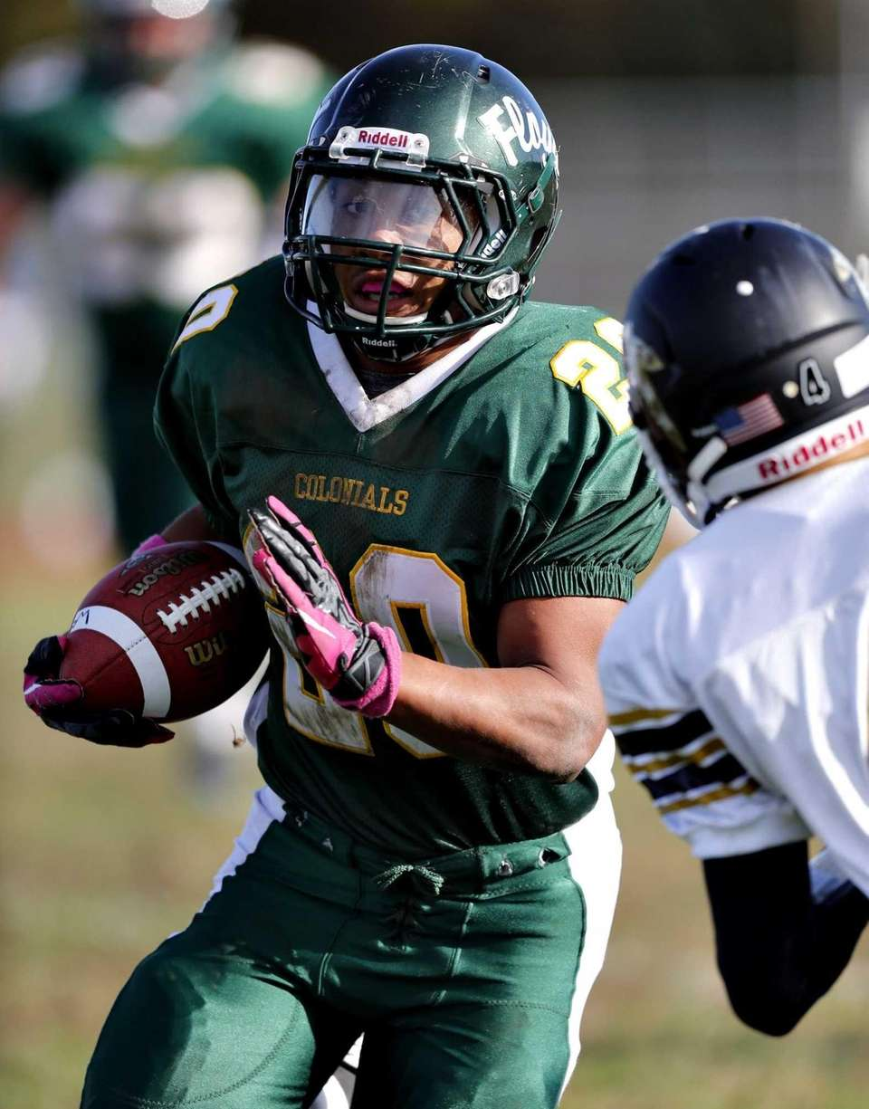 William Floyd running back Chris Faison looks to