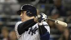 Russell Martin bats during the second inning of