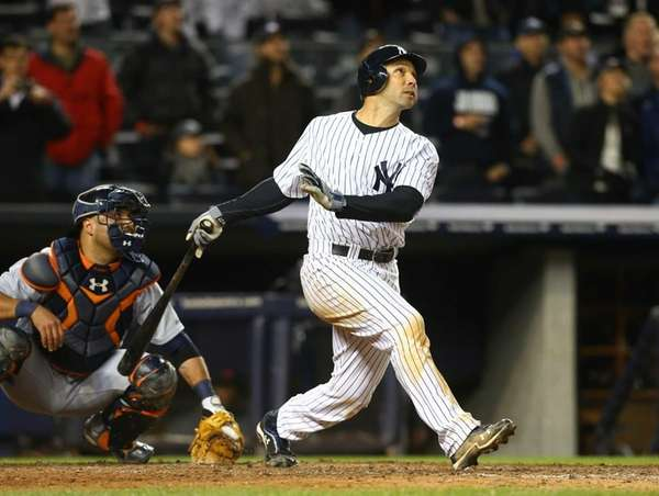 Raul Ibanez follows through on his home run