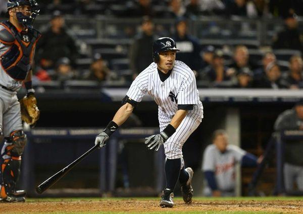 Ichiro Suzuki #31 of the New York Yankees