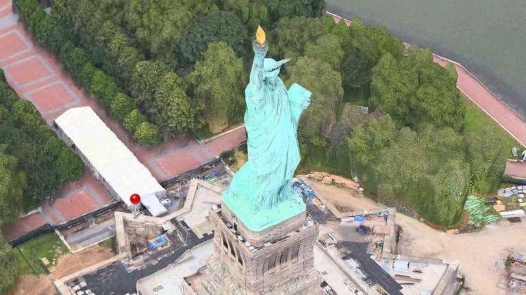 Apple has put Lady Liberty back on her