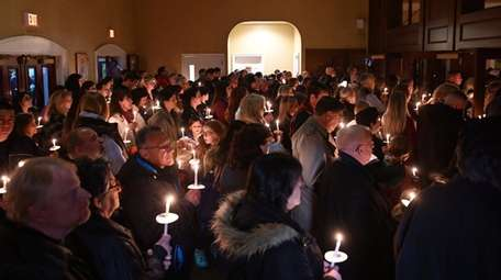 A candlelight vigil was held for Thomas Valva