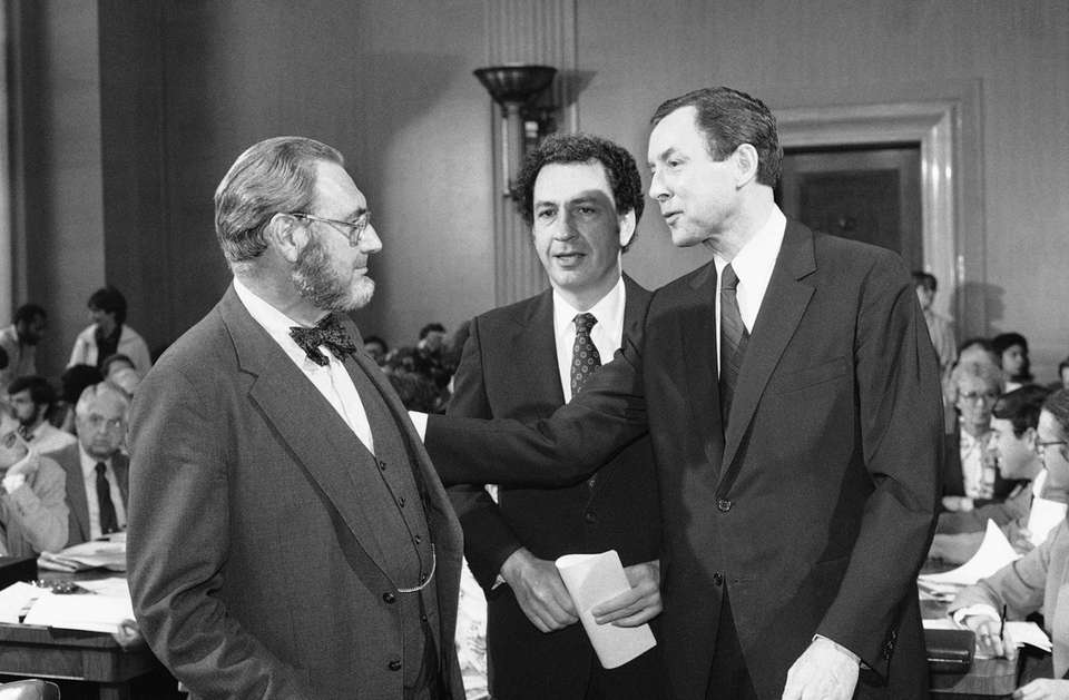 Dr. Everett Koop, left, who had been nominated