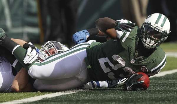 Jets running back Shonn Greene scores a touchdown