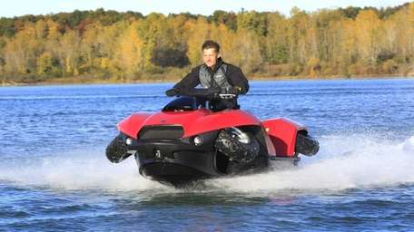 The Quadski, a one-person all-terrain vehicle that converts