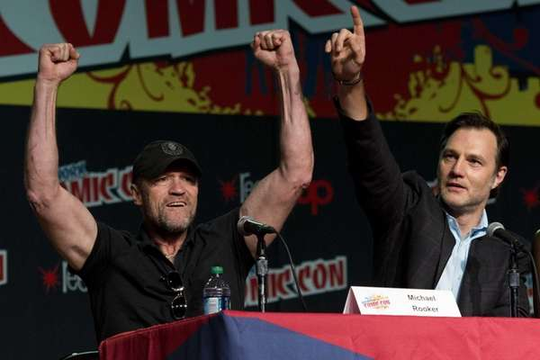 Michael Rooker, left, and David Morrissey of the