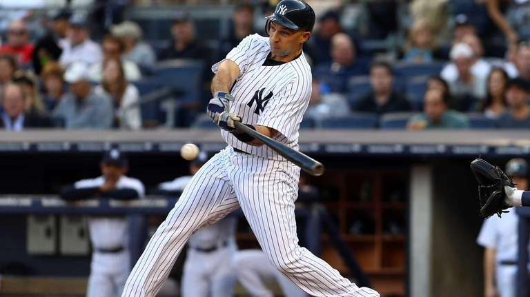 Raul Ibanez hits a single in the fourth