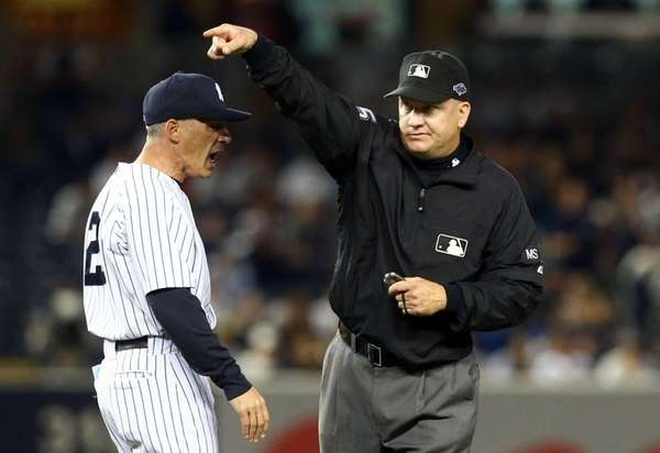 Joe Girardi is thrown out of Game 2