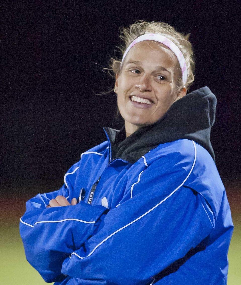 Hauppauge girls soccer coach Jesseca Kulesa. (Oct. 12,