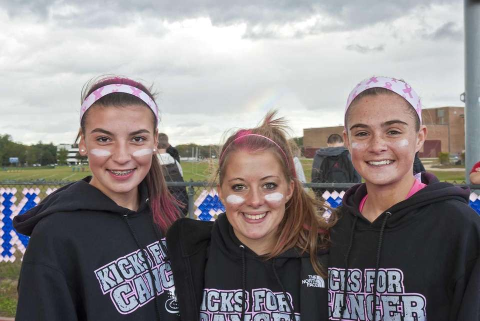 Hauppauge soccer players Brenna Conover, Courtney Solana and