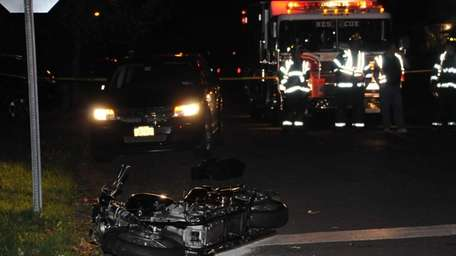 A motorcyclist was seriously injured in a collision