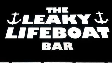 The marquee of The Leaky Lifeboat Bar in