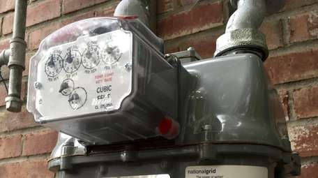 Commercial gas meter in Riverhead for National Grid.
