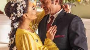 Lindsay Lohan and Grant Bowler in a