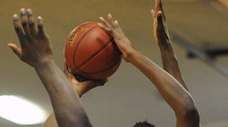 Baldwin vs. Westbury in a Nassau boys basketball