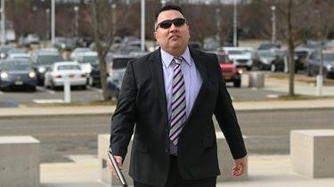 Former Massapequa High School teacher Joseph Zanco arrives