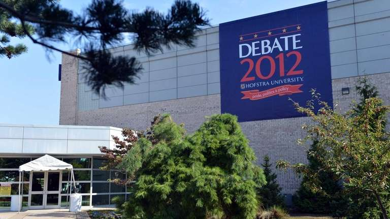 Preparations continue for the presidential debate at Mack