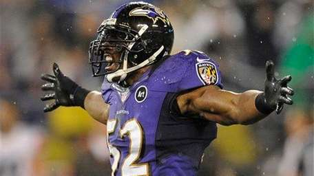 Ray Lewis tore his right triceps during a