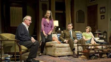From left, Tracy Letts, Amy Morton, Madison Dirks