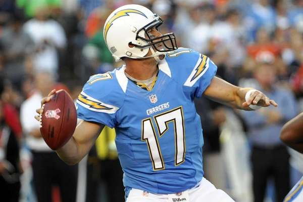 San Diego Chargers quarterback Philip Rivers throws a