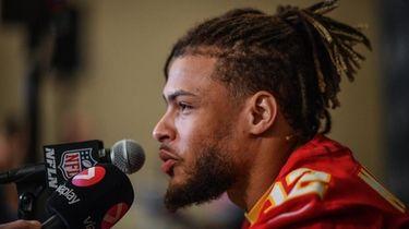 Tyrann Mathieu of the Kansas City Chiefs speaks