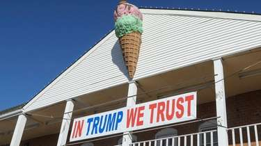 Port Jefferson Village officials say the pro-Trump sign