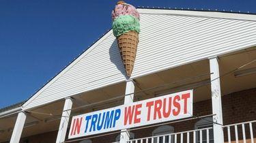 Port Jefferson Village officials say the pro-Trump sign